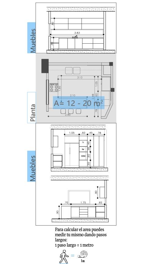 plano cocina l-100
